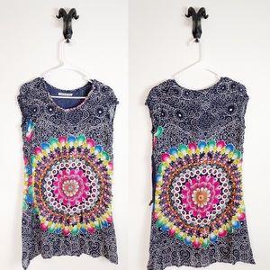 Desigual Colorful T-Shirt / Dress Medium